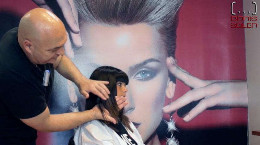 Como Desfilar el Cabello en la parte frontal – How to trim your hair diagonally