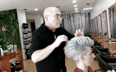 Como hacer un cabello Gris desde un pelo Negro