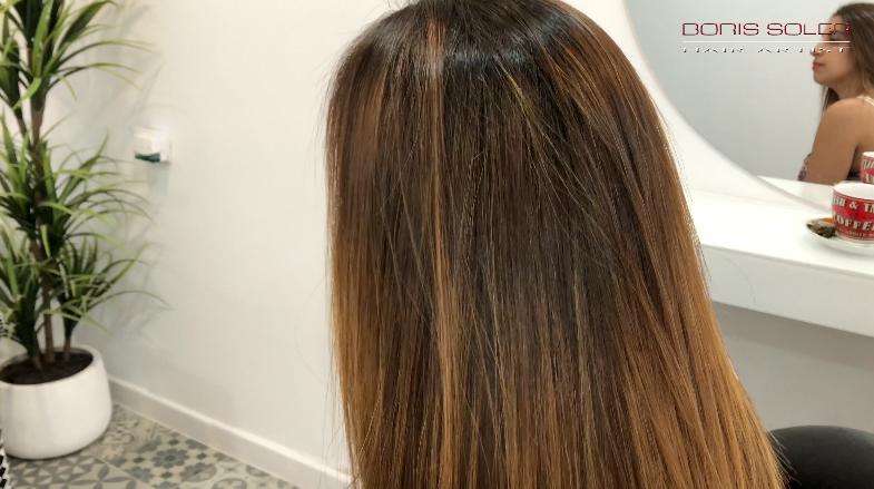 Tratamiento de Keratina en cabello muy rizado